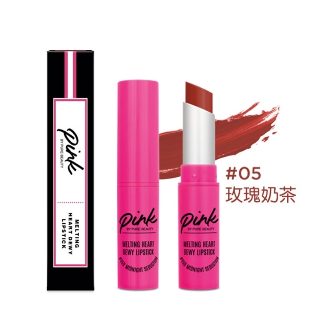 Pink by Pure Beauty 絲絨水潤唇膏 #05 玫瑰奶茶 4g